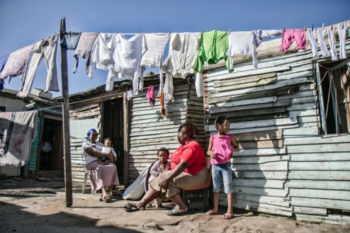 South African township shack
