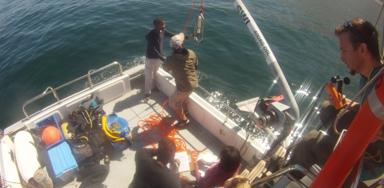 CTD deployment in False Bay